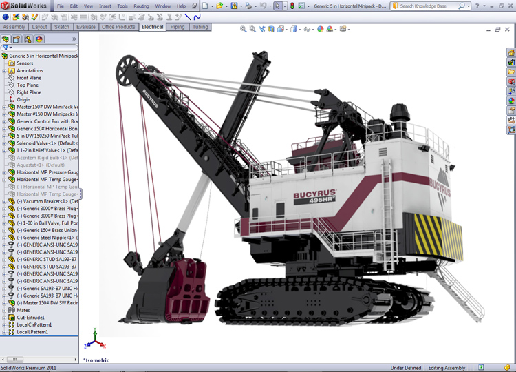 solidworks_cad_bucyrus_in_frame