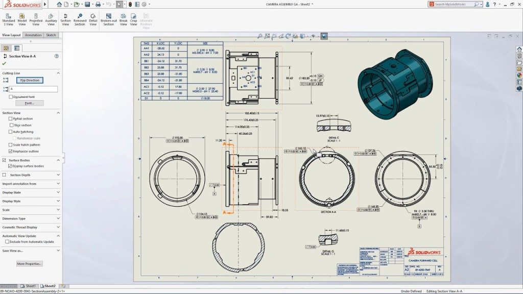 Drawings SOLIDWORKS 2019